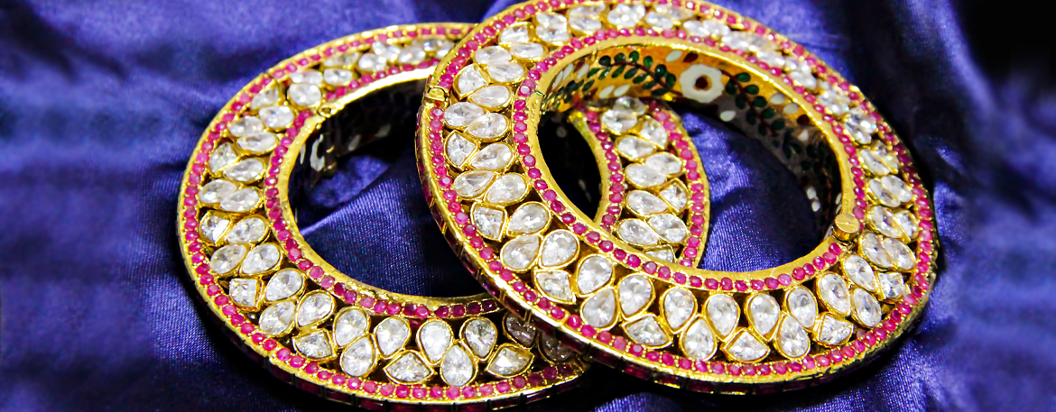 polki jewellery diamonds semiprecious heritage designs style Rajasthani Bikaner craftsmen art royal