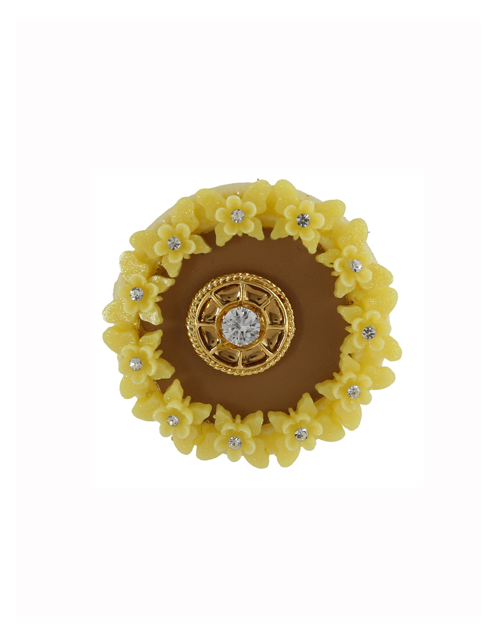 Yellow Colour Fancy Saree Pin For Women Trendy