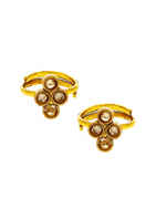 Antique Gold Finish Studded With Stones Fancy Toe Ring
