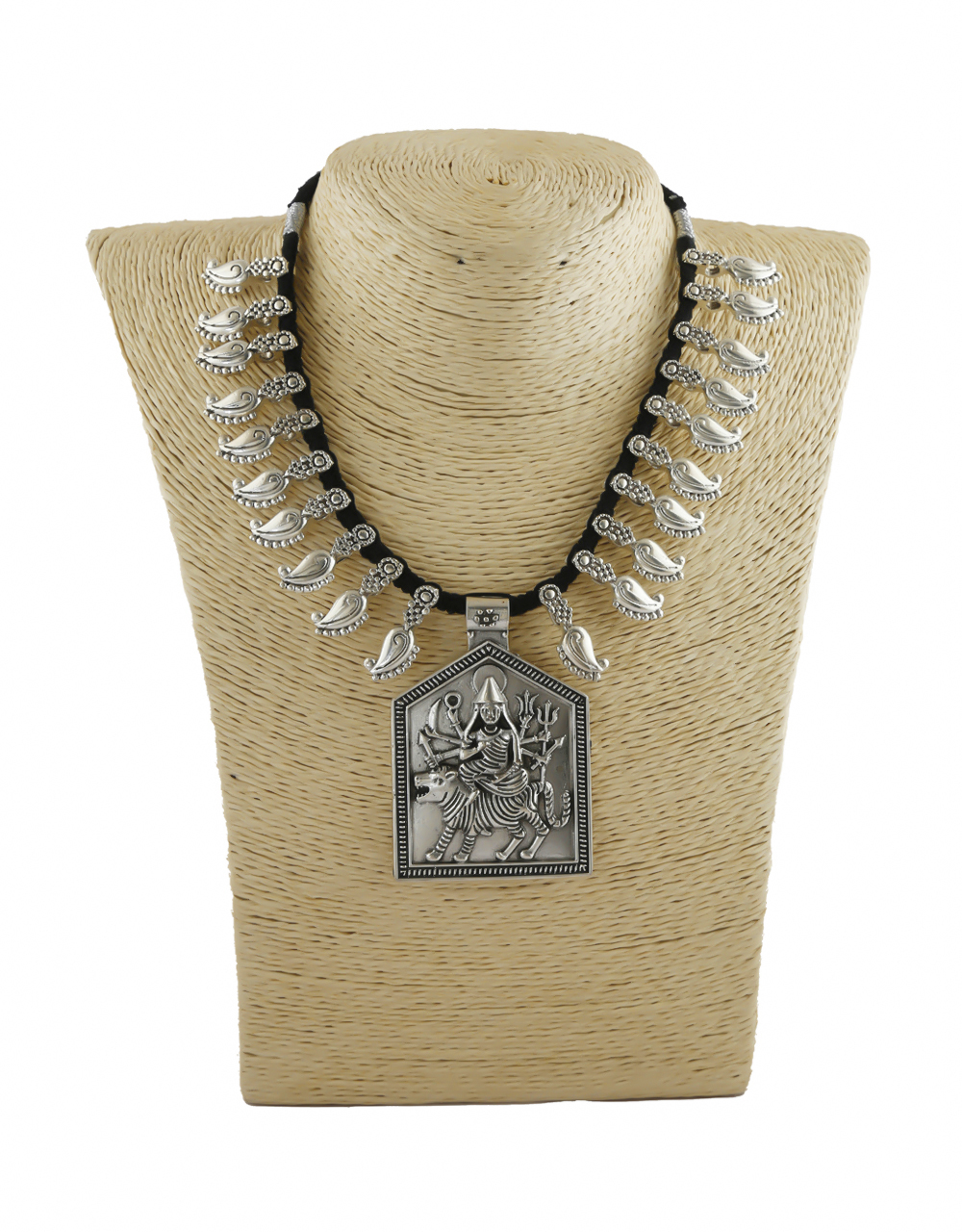 Silver Oxidised Finish Necklace Jewellery For Women