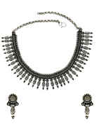 Fancy Oxidised Finish Designer Necklace Jewellery For Girls