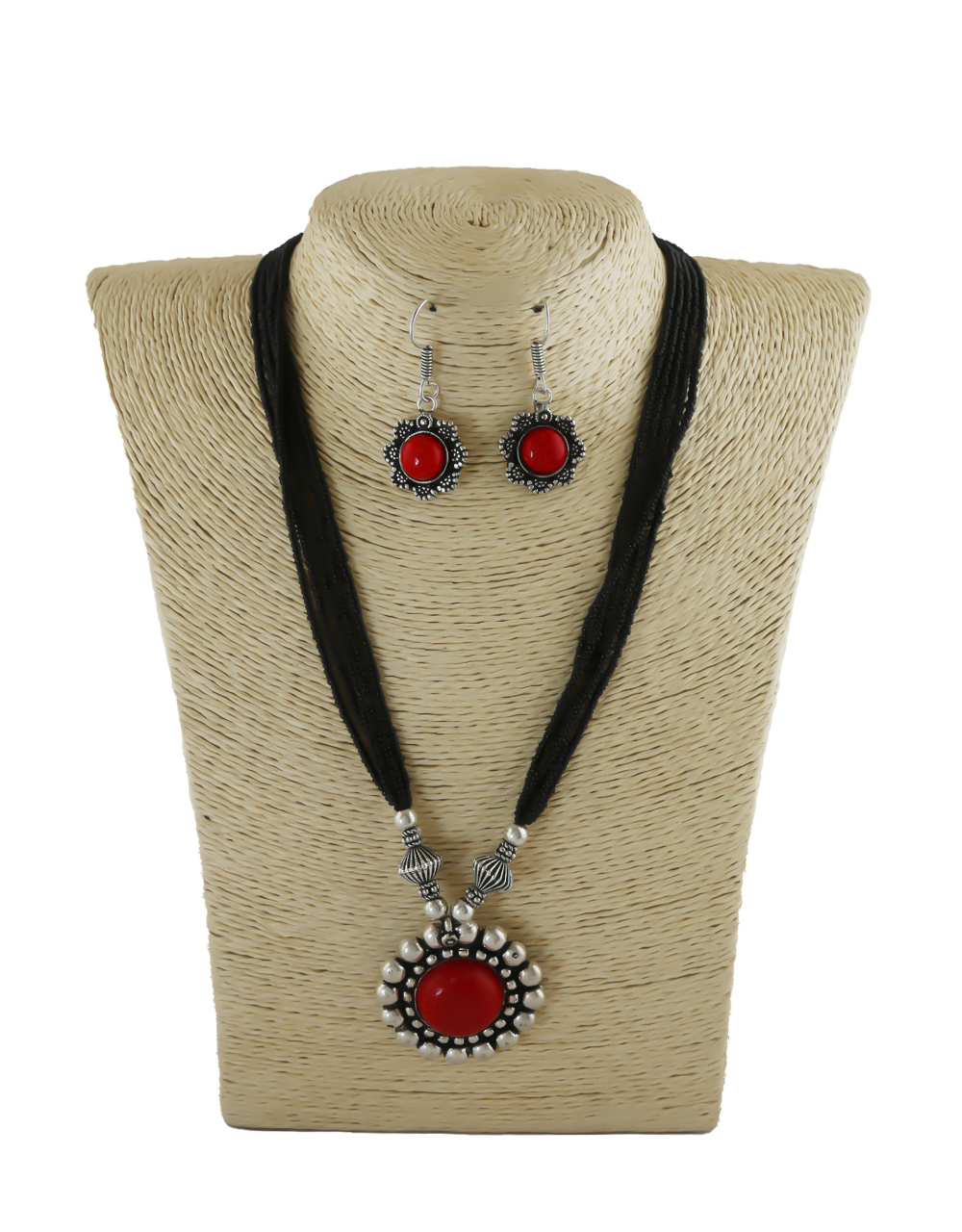 Red Colour Black Beads Styled Mangalsutra For Women Fancy Wear