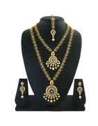 Beautiful Gold Finish American Diamond Stunning Jewellery Necklace For Wedding