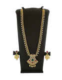 Fancy Gold Finish Multi Colour American Diamond Stunning Necklace