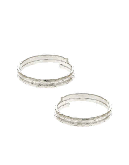 Simple Silver Finish Bichudi Ring For Women