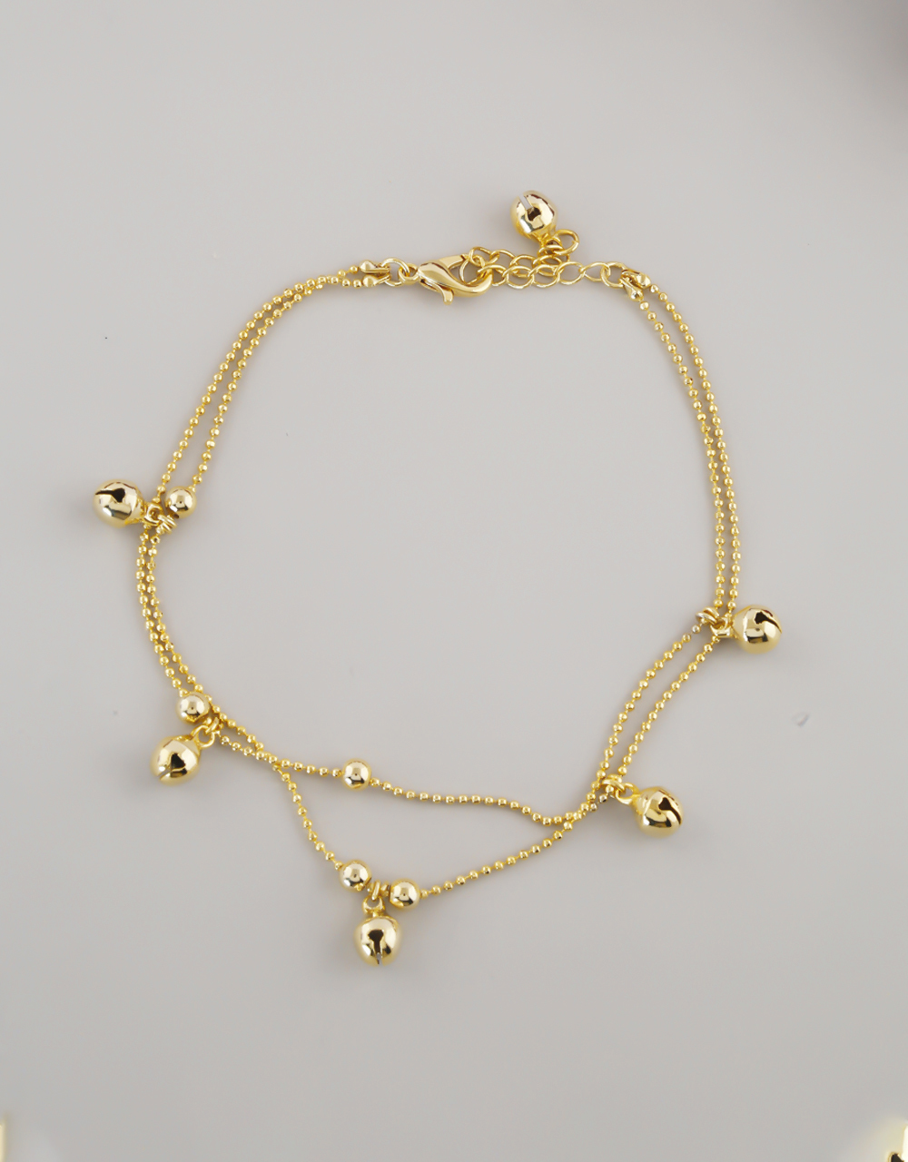 Gold Finish Ghungroo Styled Anklet For Girls