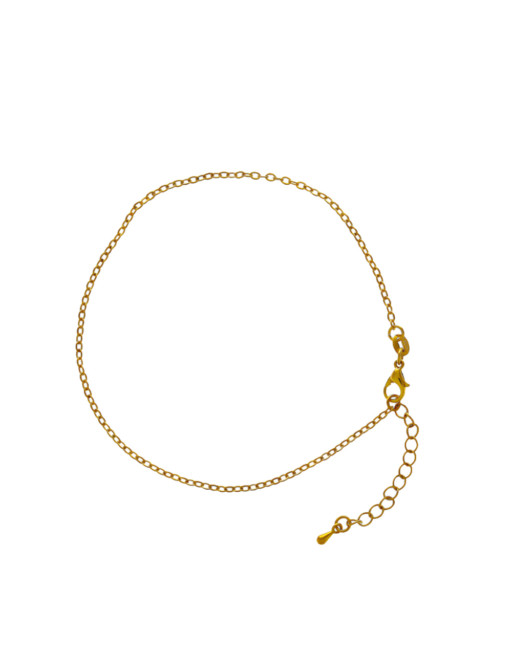Simple Gold Finish Chain Anklet For Girls