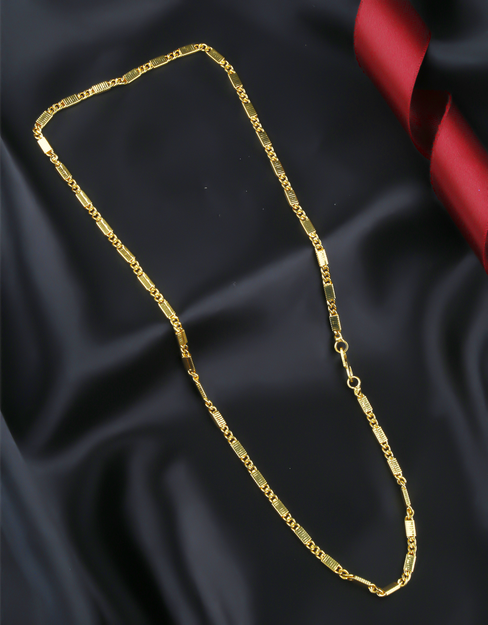 Simple Artificial Gold Finish Chain Accessories