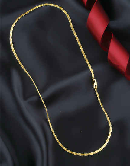 Gold Finish Snake Mens Chain For Fancy
