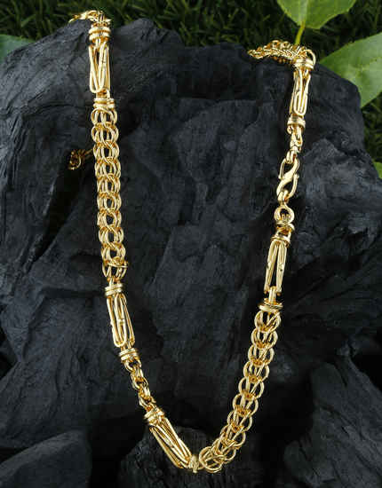 Unique Design Gold Finish Chain For Men