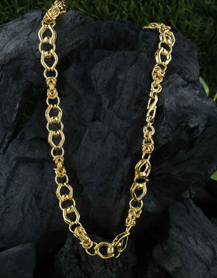 Fancy Adorable Gold Finish Chain For Gents