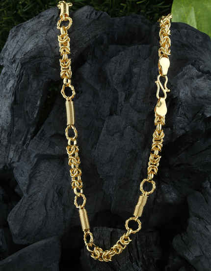Unique Design Fancy Gold Finish Chain For Fancy Wear