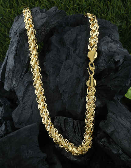 Gold Finish Designer Chain For Guys