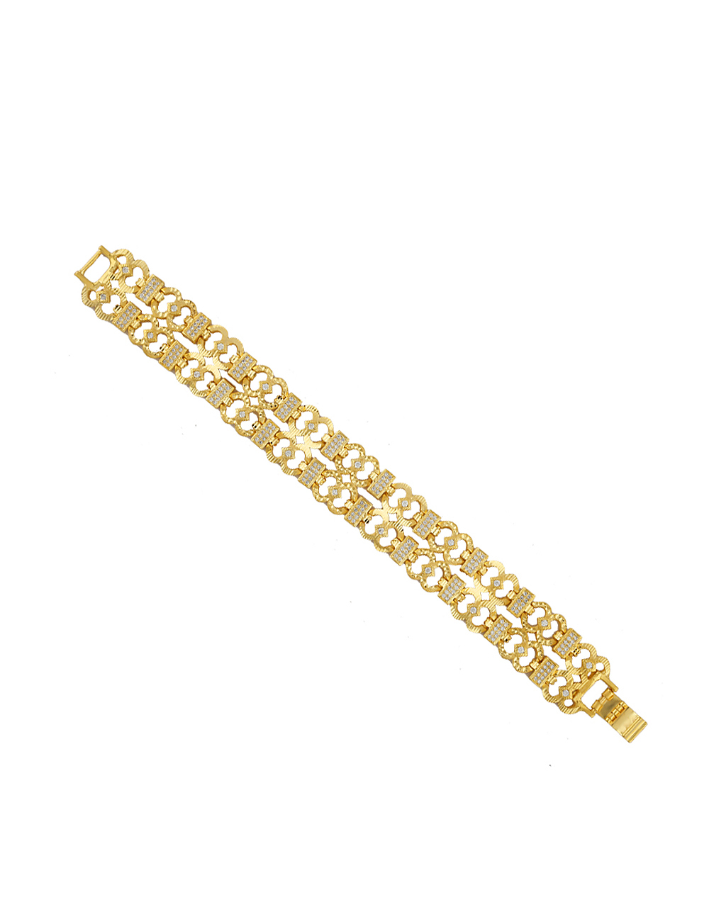 Adorable Gold Finish Studded With American Diamond Bracelets