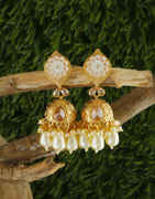Very Classy Designer Gold Finish Jhoomka For Women