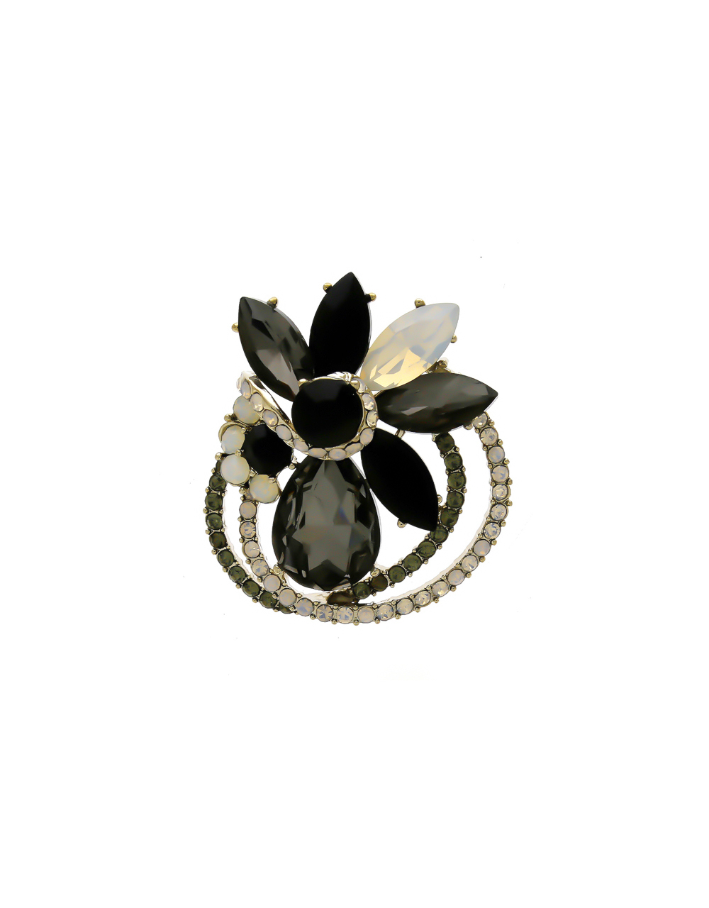 Grey Colour Gold Finish Stunning Brooch For Men
