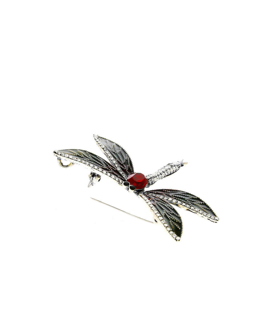 Multi Colour Silver Oxidized Finish Butterfly Stunning Brooch