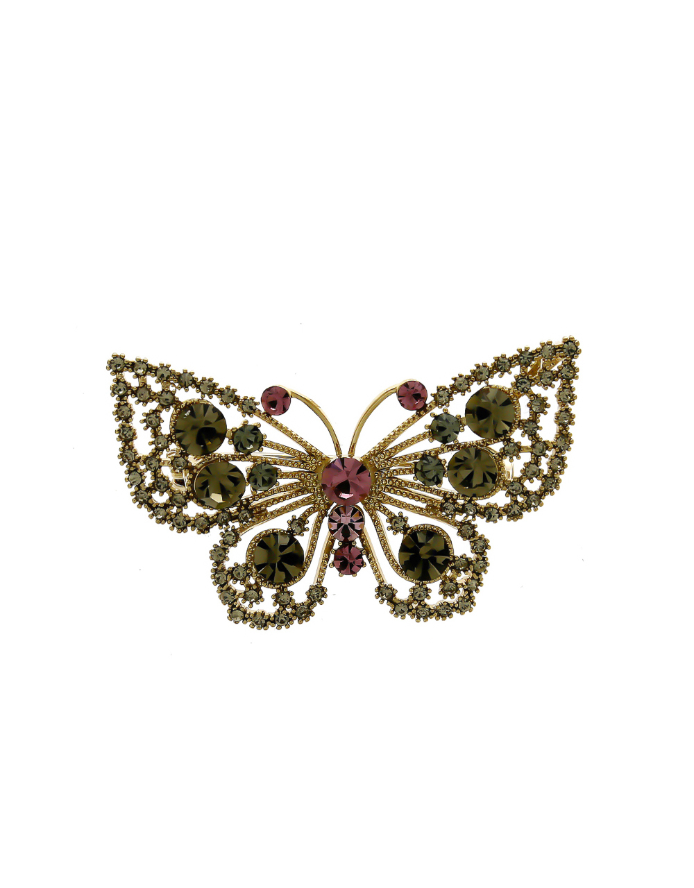 Grey Colour Gold Finish Very Classy Fancy Butterfly Brooch