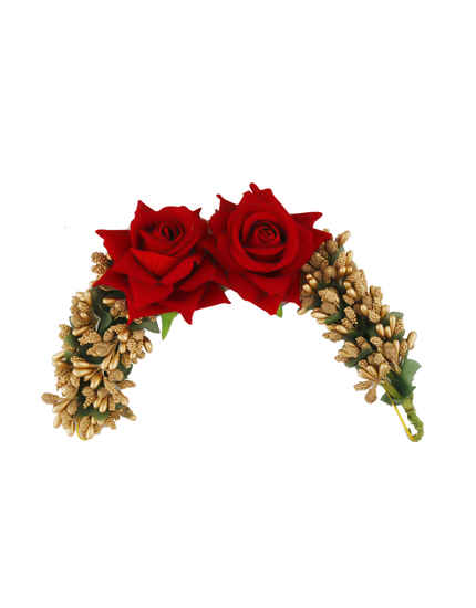 Red Colour Hair Accessories For Women Party Wear