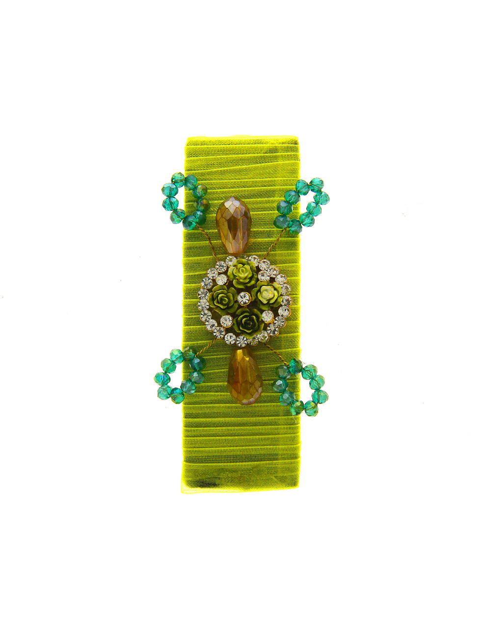Neon Colour Studded With Stones Fancy Hair Pin