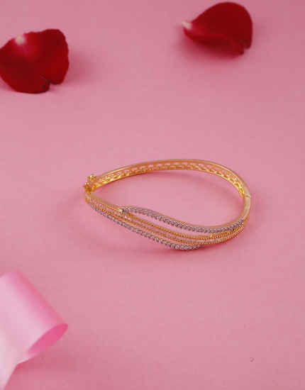 Unique Design Gold Finish American Diamond Fancy Bracelets For Girls
