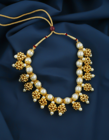 Pearls Styled Moti Necklace For Wedding Fancy Wear Traditional Necklace