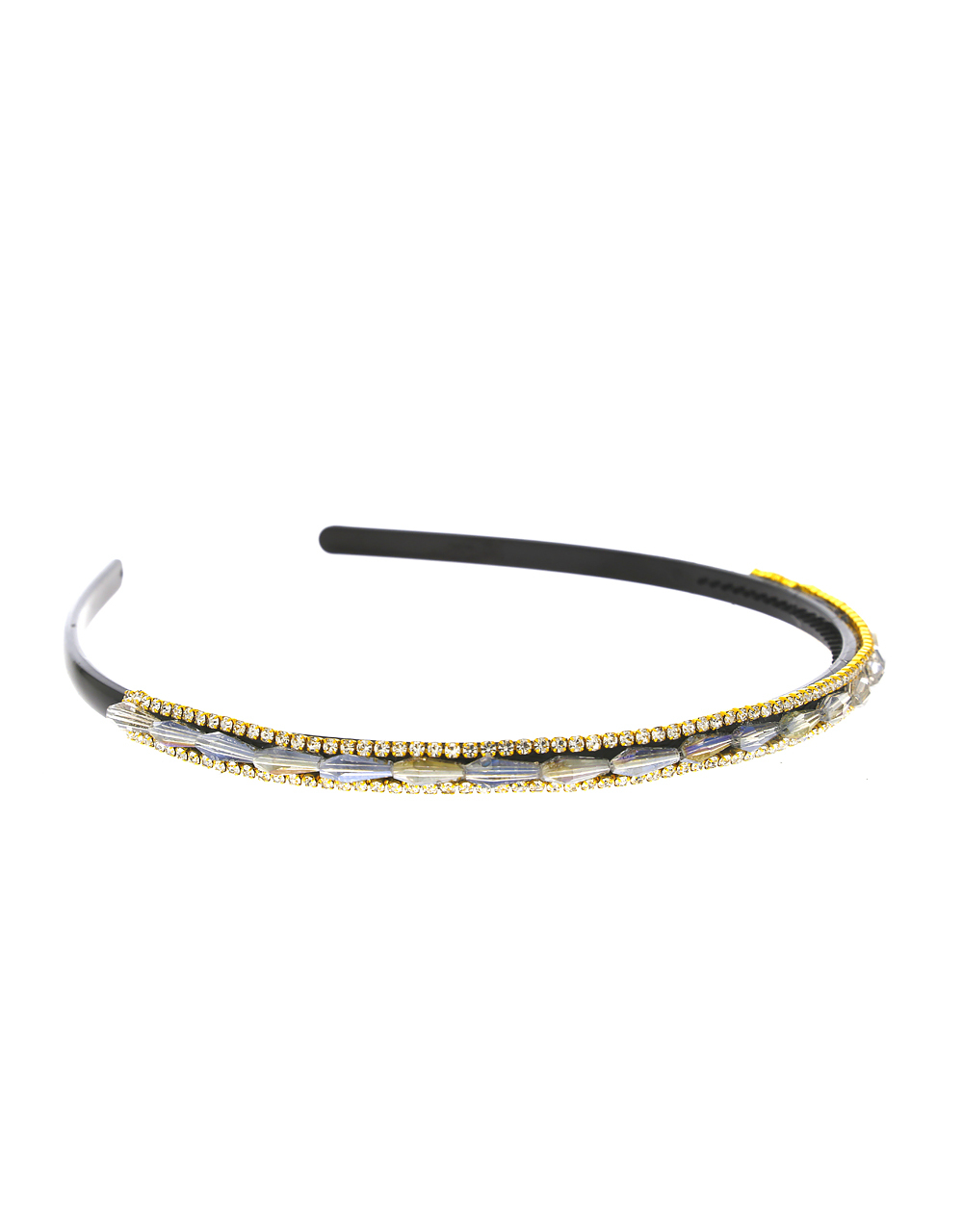 Grey Colour Styled With Beads Fancy Hair Band For Girls