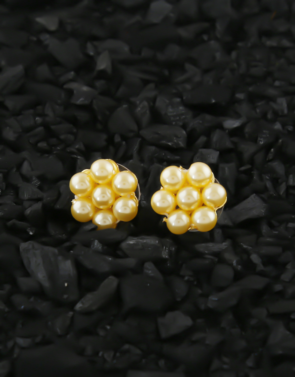 Traditional Gold Finish Pearls Styled Kudi Earring Tops