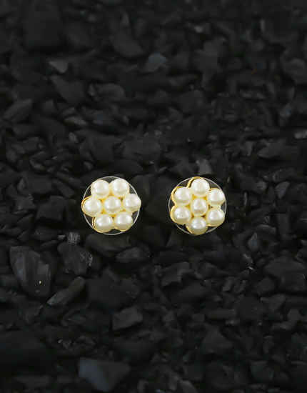 Pearls Styled Gold Finish Moti Kudi Ear Tops