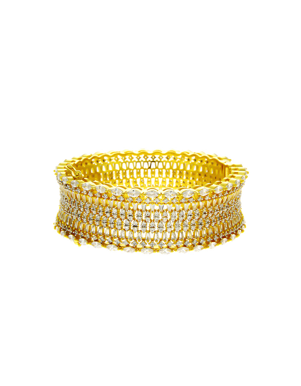 Anuradha Art Gold Finish Designer Fancy Party Wear Hand Bracelet//Kada for Women//Girls