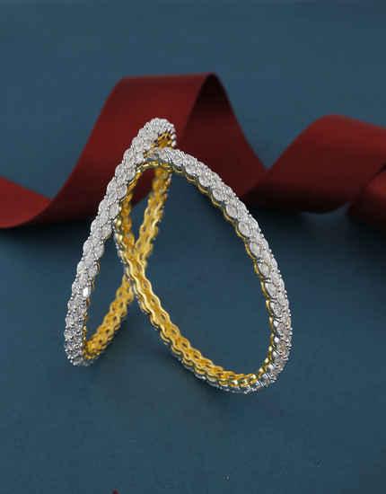 Gold Finish Fancy Adorable Stunning Kada Bangles For Women