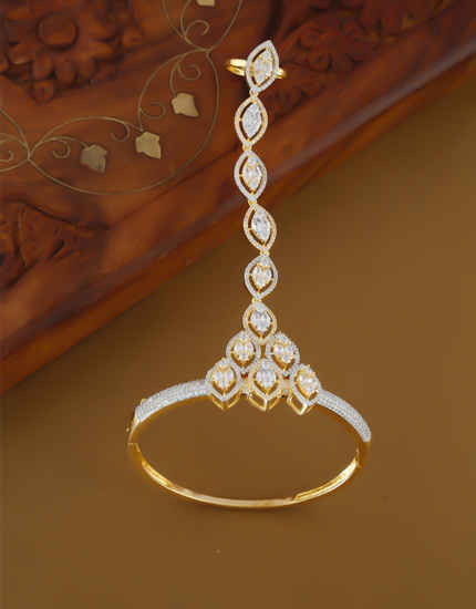 Very Classy Gold Finish American Diamond Artificial Bracelets For Women