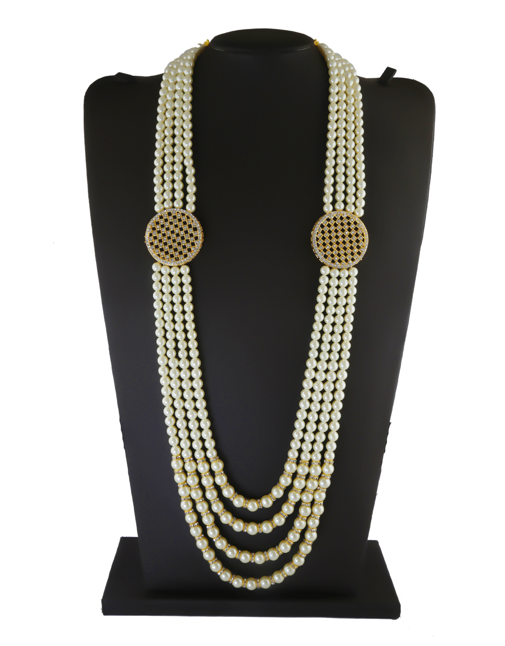 Fancy Gold Finish Studded With Stones Fancy Groom Mala