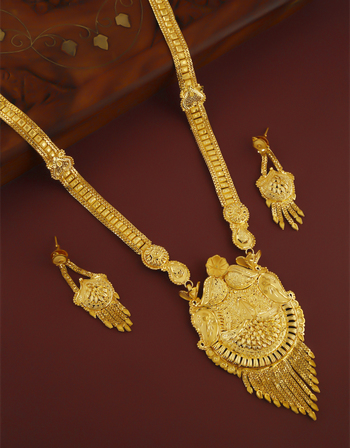 Fancy Gold Finish Maharashtrian Necklace Jewellery For Women