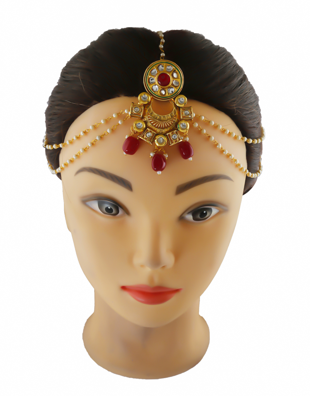 Traditional Gold Finish Hair Matha Patti Jewellery For Wedding
