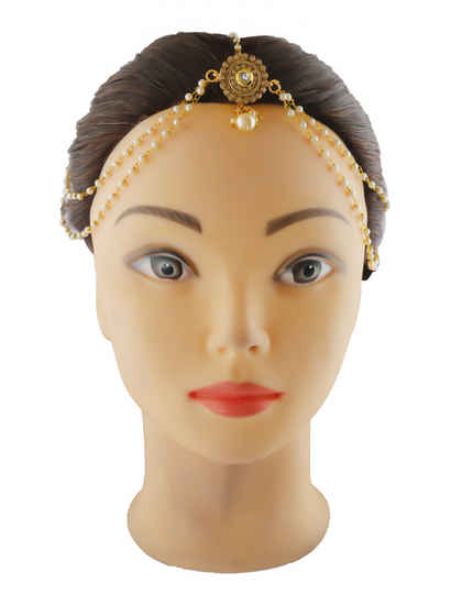 Simple Gold Finish Forehead Matha Patti Jewellery