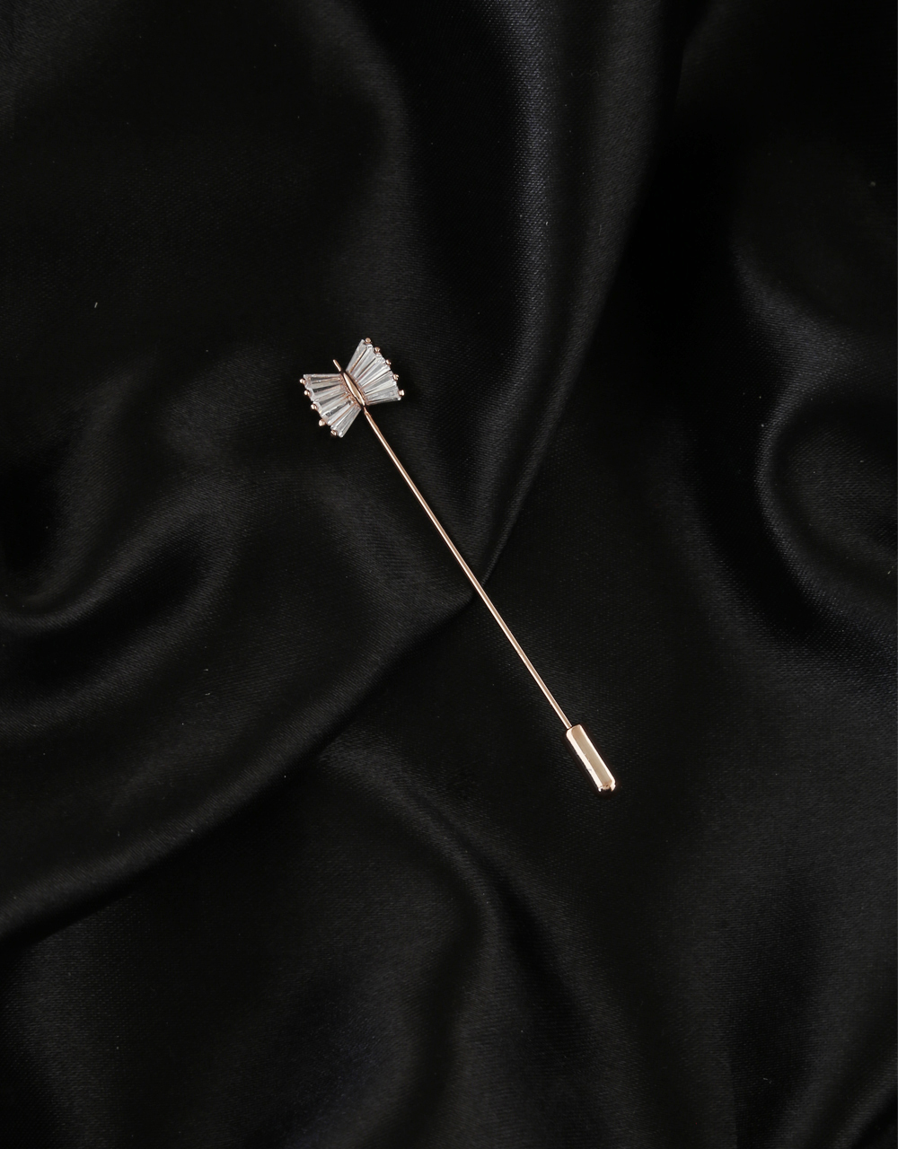 Simple Rose Gold Finish Brooch For Girls
