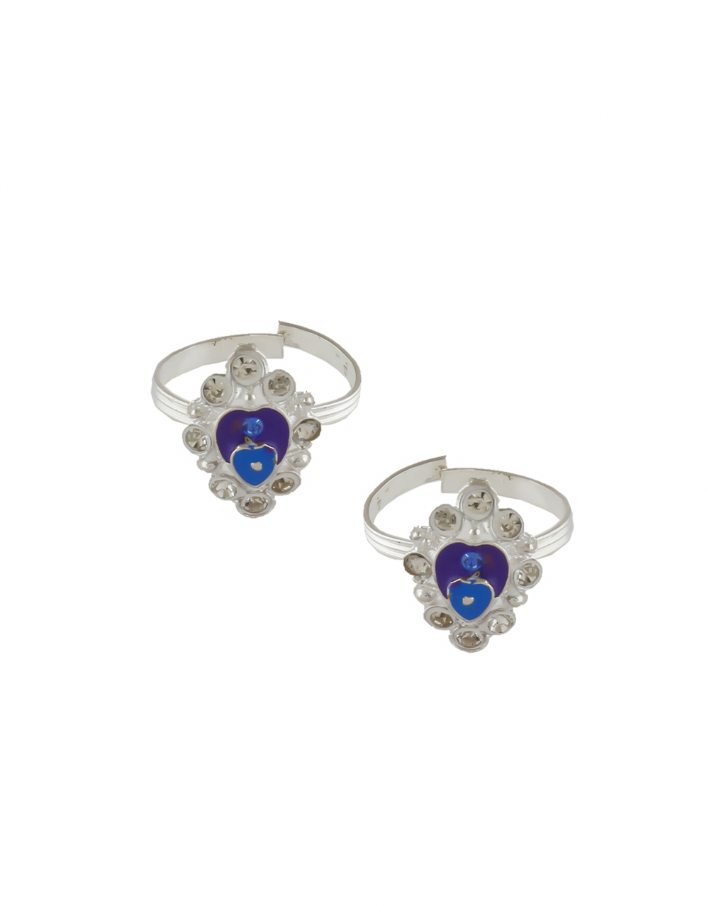 Violet Colour Silver Finish Stunning Toe Ring For Women
