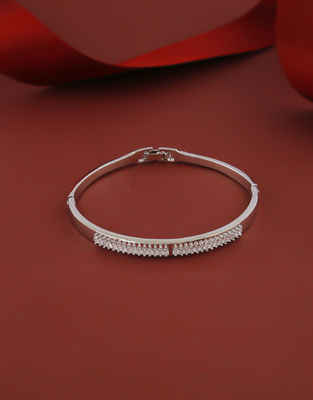 Silver Finish American Diamond Fancy Stunning Bracelets