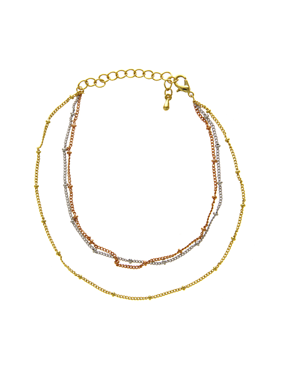 Stylish Layered Chain Anklet For Girls Western Wear