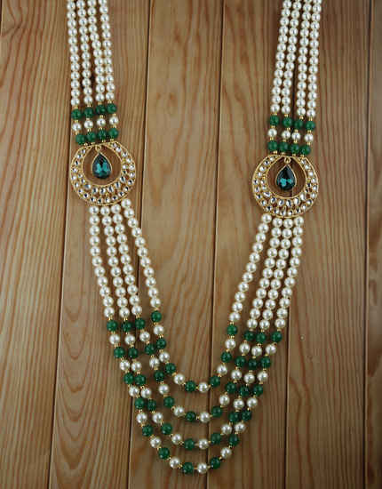 Designer Green Colour Fancy Groom Mala Jewellery