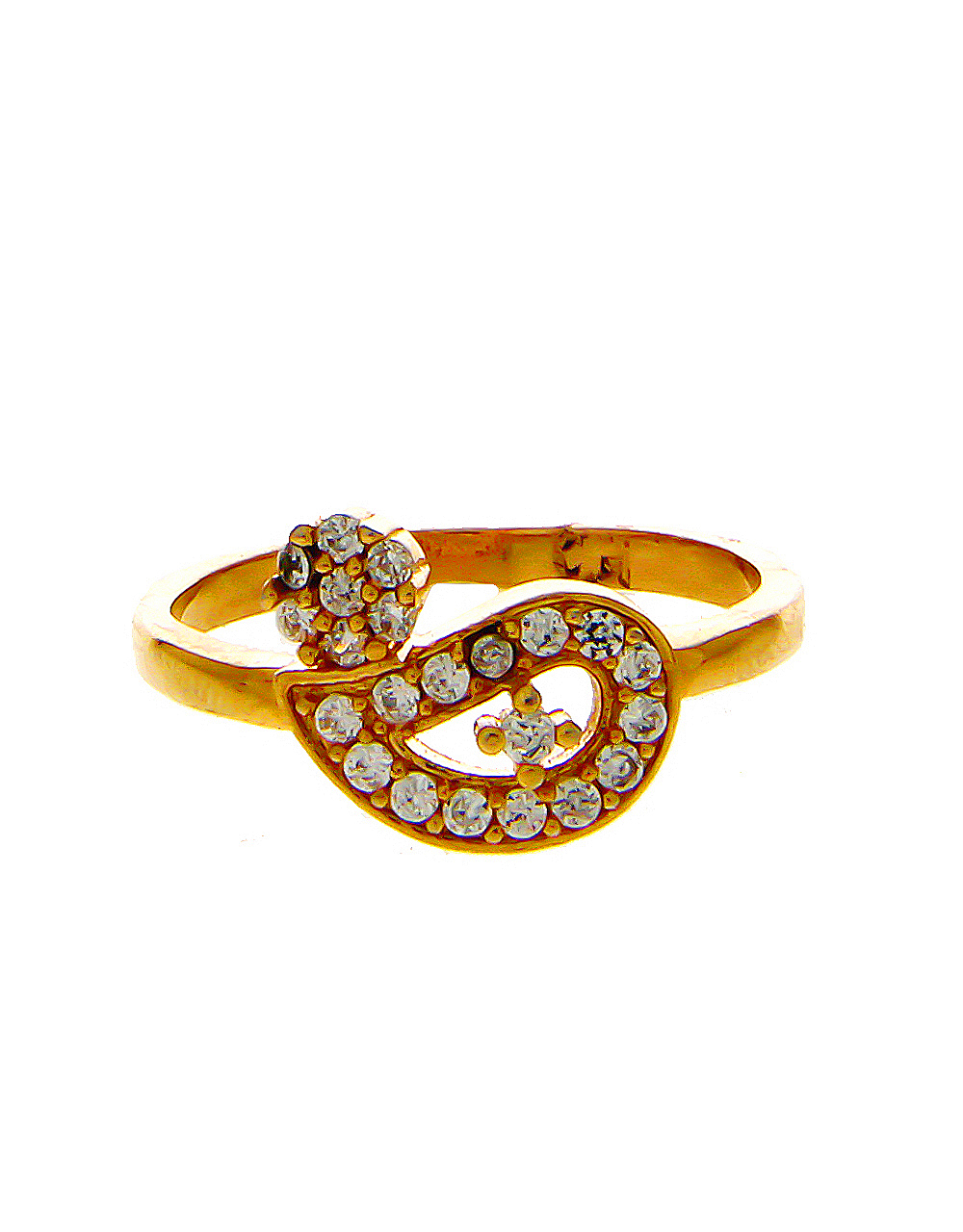 Rose Gold Finish American Diamond Daily Use Finger Rings