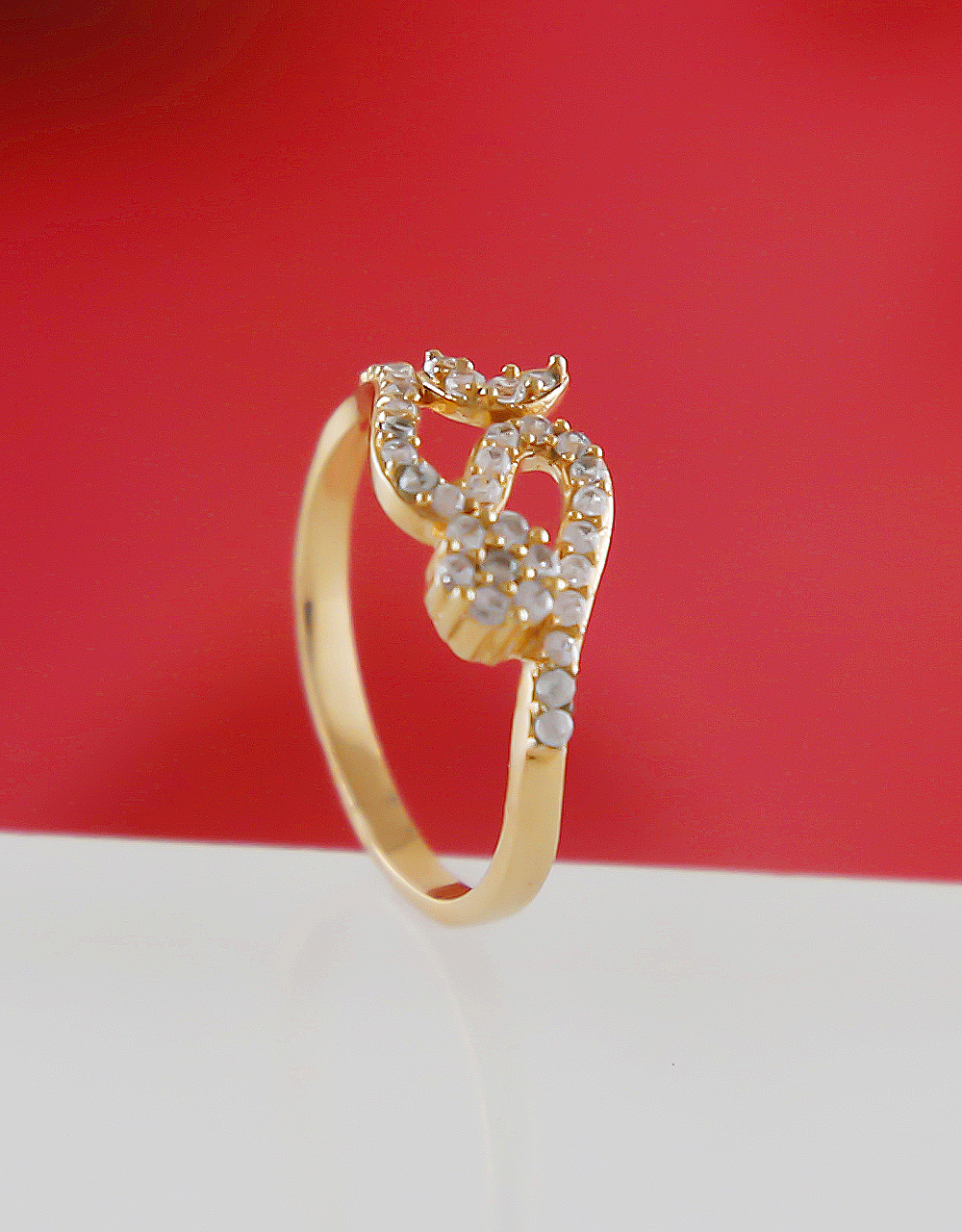 Fashionable Rose Gold Finish American Diamond Finger Rings