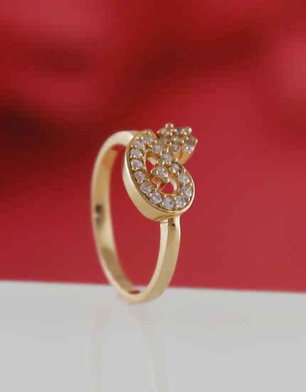 Rose Gold Finish Fancy Stylish Diamond Finger Rings