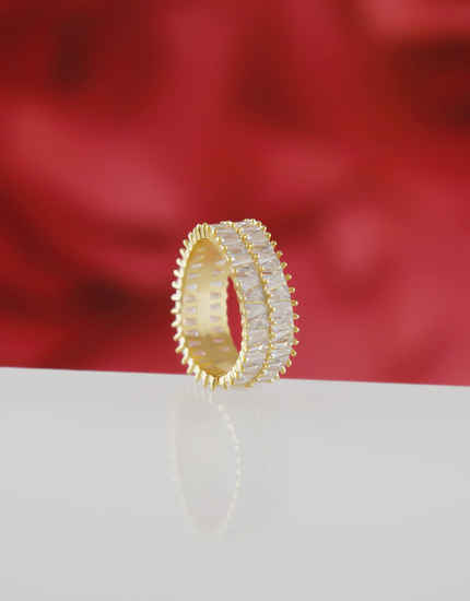 Gold Finish American Diamond Stunning Finger Rings