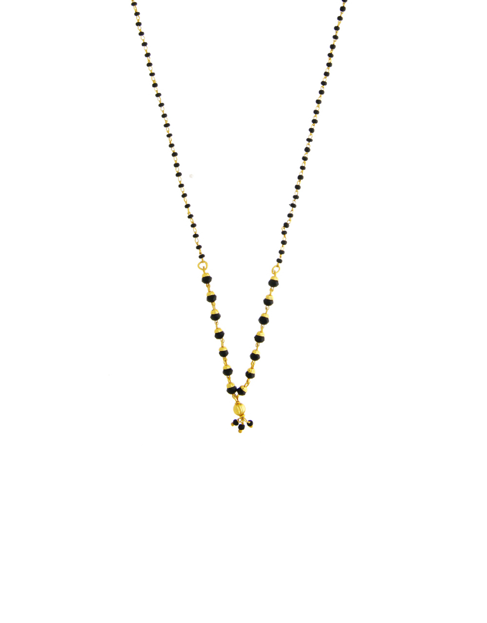 Stylish Gold Finish Simple Mangalsutra For Women Fancy