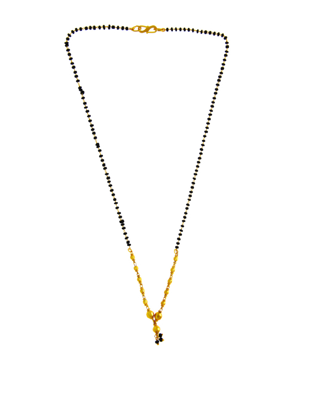 Simple Gold Finish Beads Styled Mangalsutra For Women