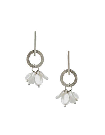 Silver Finish Delicate Earrings For Girls