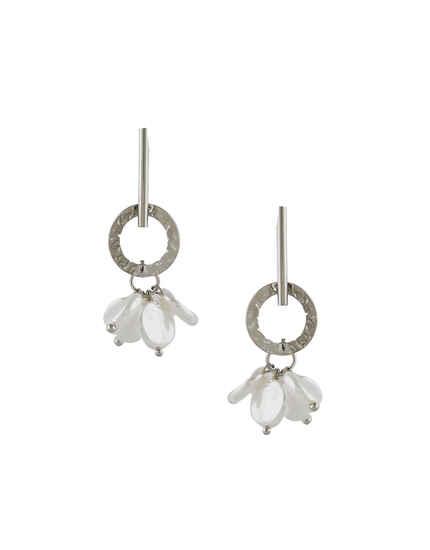 Silver Finish Delicate Earrings For Girls