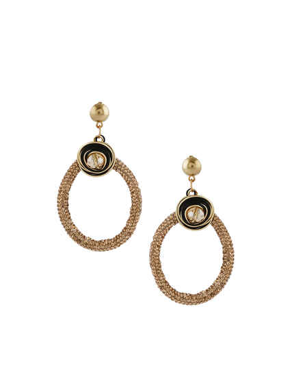 Gold Finish Designer Korean Fancy Earrings